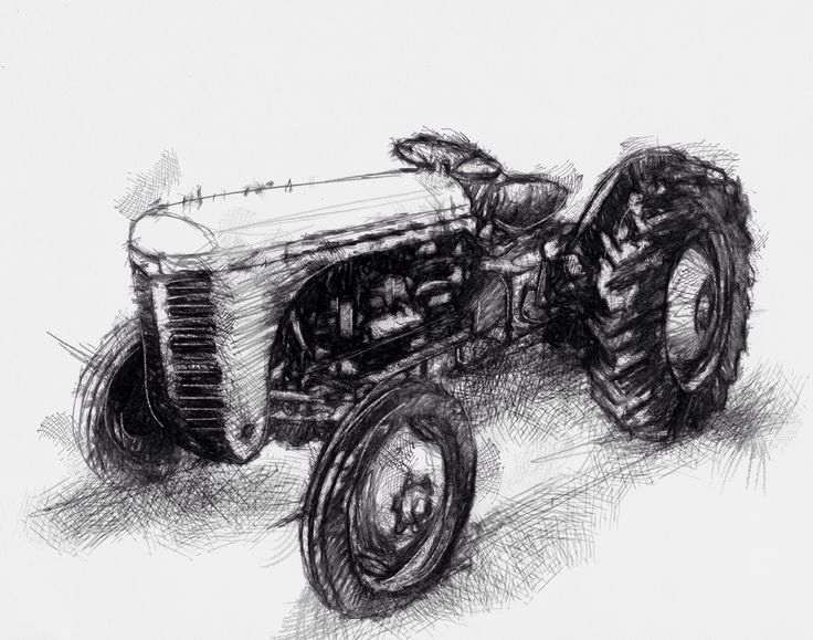 old tractor art pinterest art drawings sketches