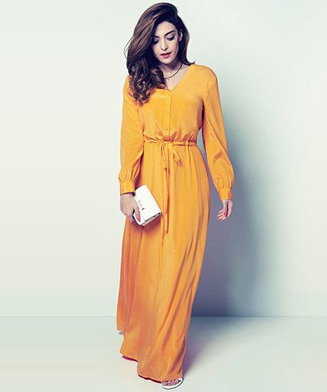 long sleeve maxi dresses from DKNY