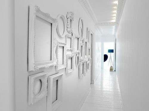 Arredamento corridoio stretto e lungo - Total white