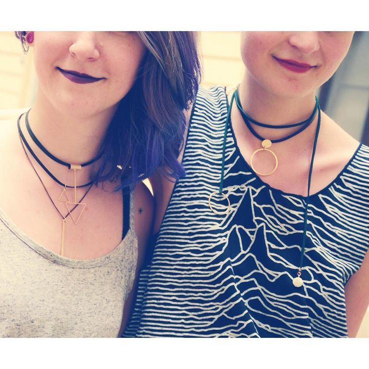 Feel the 90s vibe  choker necklace variations: geometric shape jewelry   #szputnyik #szputnyikshop
