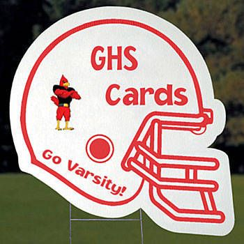 Helmet Yard Signs, Football Helmet Yard Sign