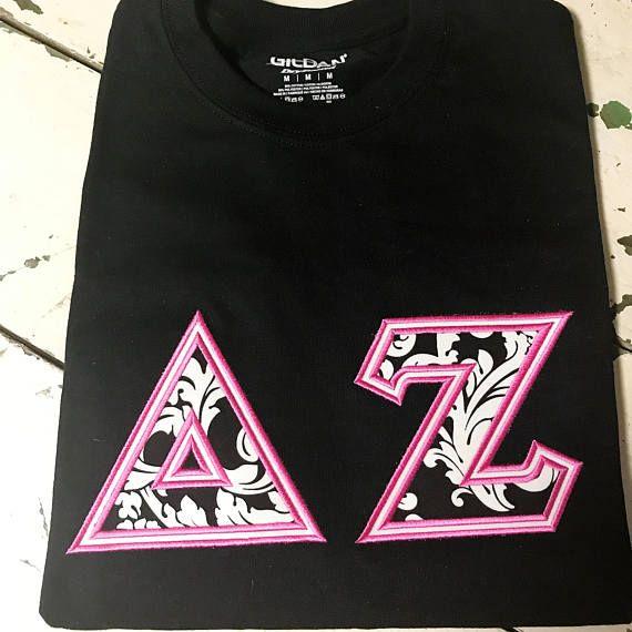 Sorority Letter Shirt Gildan Delta Zeta