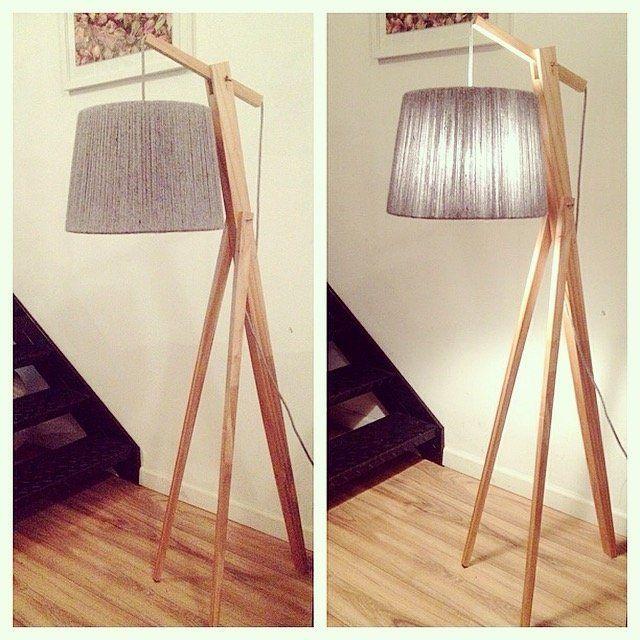 Pie madera lampara mila petit piso flo 39 s market - Empanelados de madera ...