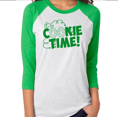 Mom Girl Scout Cookie Raglan T-Shirt It's by KissMyMonograms