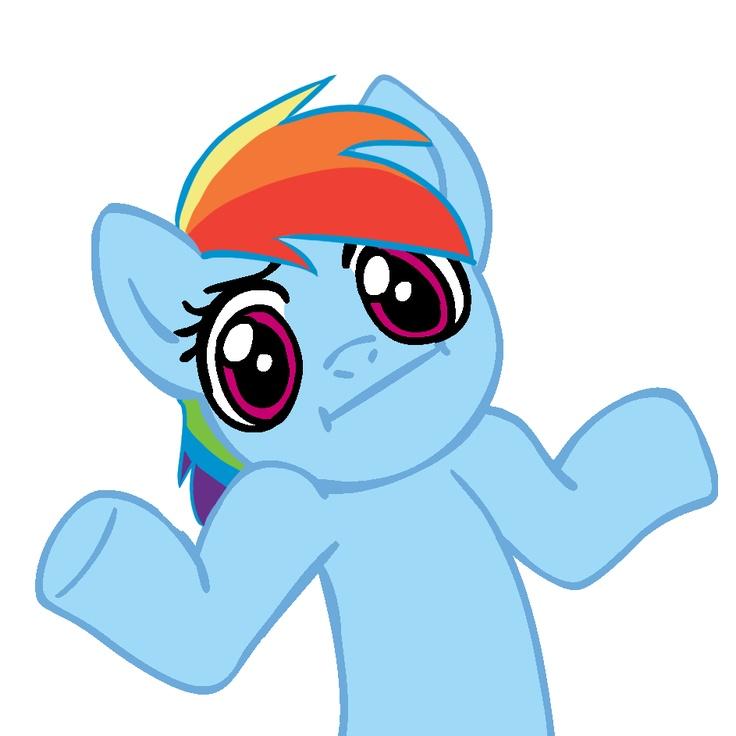 shrug rainbow dash  mlp stuff  Pinterest  Rainbow dash Pony