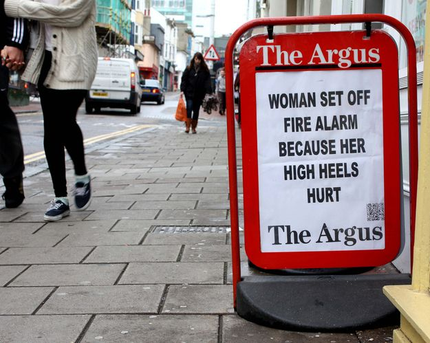 "30 Brilliant Headlines From ""The Argus"""