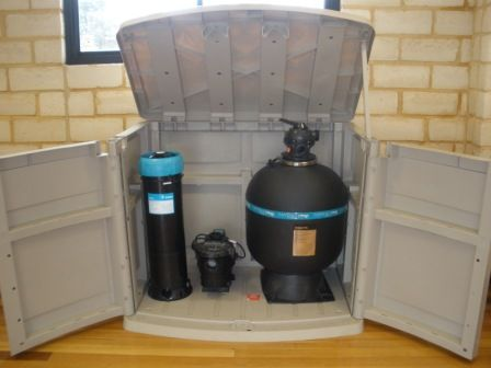 Pool Pump Shed Ideas one way to hide pool filter while providing access Vinyl Pool Pump Covers Hunter Shed Masters