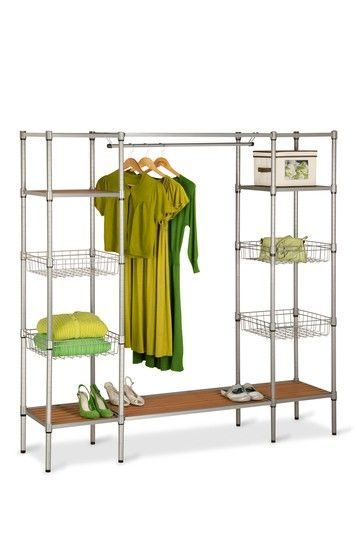 Freestanding Steel Closet with Basket Shelves