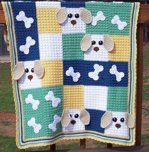 Really modern crochet blanket
