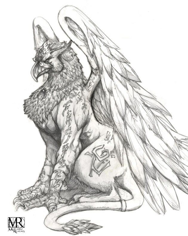 Gryphon … | Mythical creatures art, Griffin tattoo ...