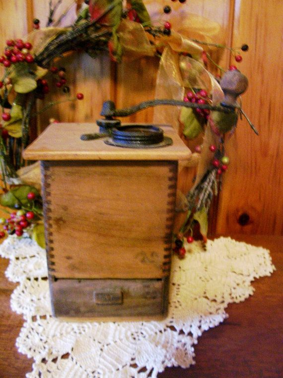 SALE 1800's Primitive Antique Victorian Coffee by stonecottagemill, $99.00