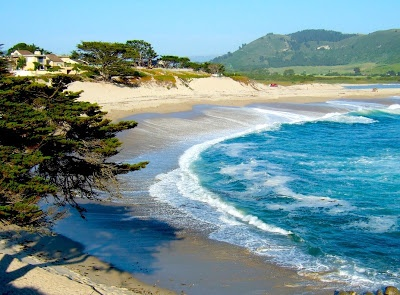 Carmel River State Beach is one of the most beautiful places to watch the waves crash along the coast. The marshland attracts many varieties of birds.