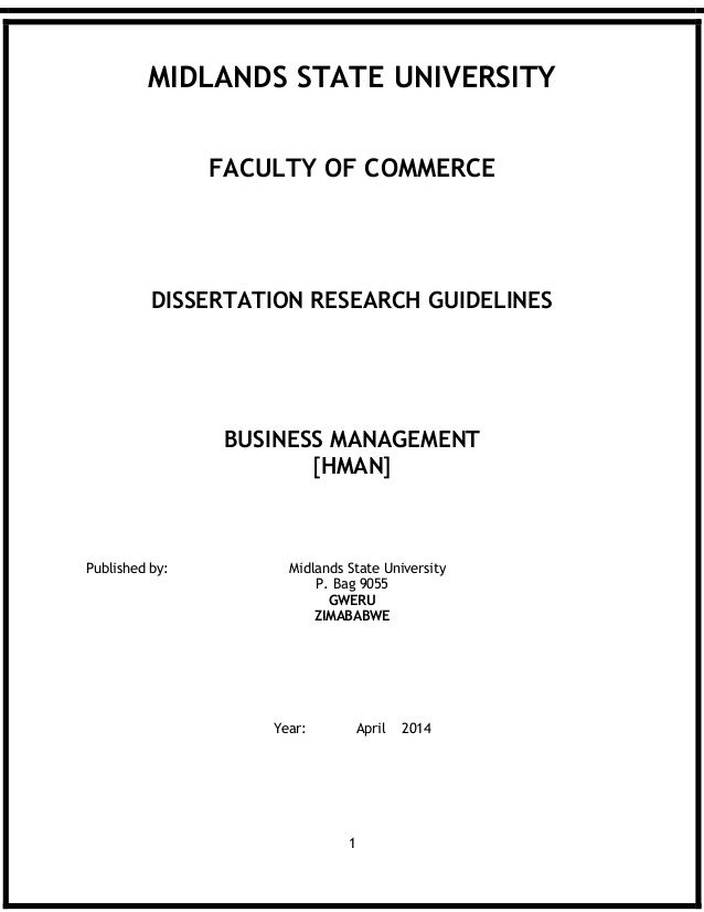 thesis about business management