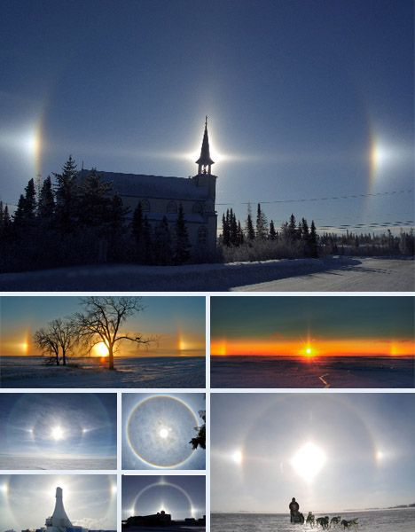 Sundogs, like light pillars, sundogs are the product of light passing through crystals.