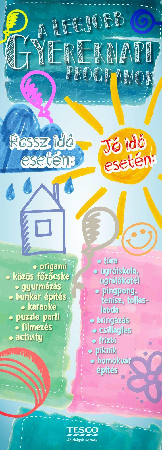 Ha azt hiszed, hogy már minden gyereknapi programon túl vagytok, itt van néhány plusz tipp! ;) #gyereknap #program #unalomuzo #tesco #tescomagyarorszag