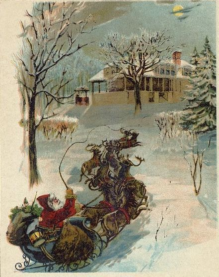 "1870 illustration from ""T'was the Night Before Christmas"""