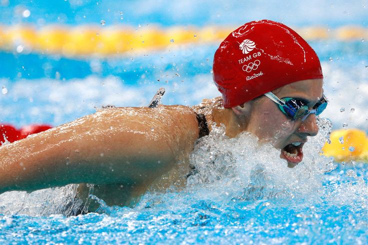 Aimee Willmott of Great Britain competes in the Women's 400m Individual Medley heat 4 on Day 1 of the Rio 2016 Olympic Games at the Olympic Aquatics Stadium on on August 6, 2016 in Rio de Janeiro, Brazil.