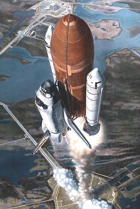 """""""T-Plus 30"""" by Mark Waki. #markwaki #nasa #spaceshuttle"""
