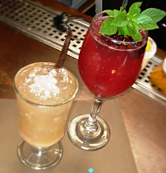 cocktails with chestnut and raspberries! La Fruitiere du Val Evel