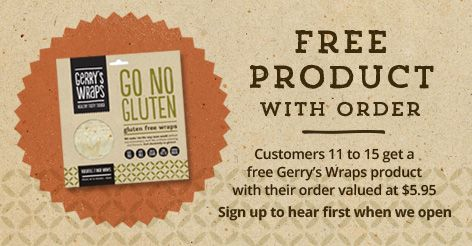 Sign up at our website to hear first when we open and to get a free product with your first order :-)