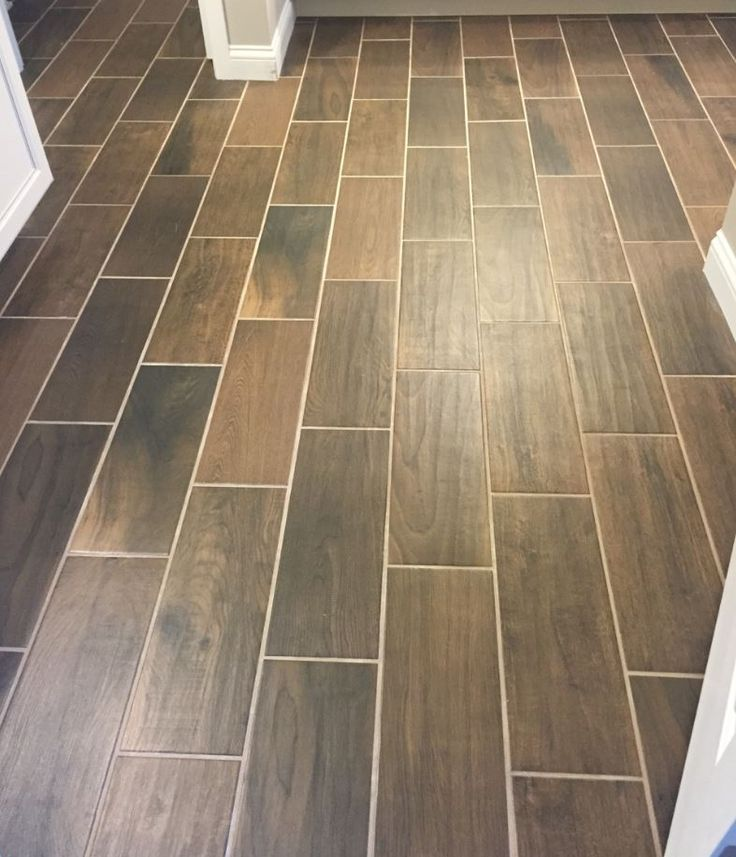 Emblem 7x20 Brown Em04 Brick Joint Floor Tile Grey Floor