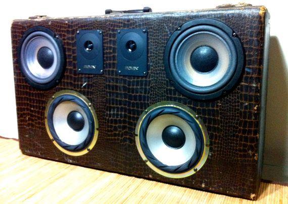 Suitcase Speaker Box by BassBoxShop on Etsy, $160.00