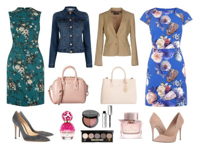 """Oasis outfit"" by angelica-garcia-i on Polyvore featuring moda, Dolce&Gabbana, Gianvito Rossi, Steve Madden, Furla, Burberry, Marc Jacobs y Bobbi Brown Cosmetics"