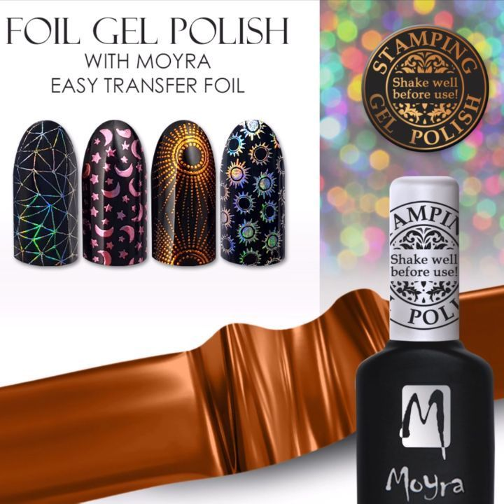 "323 Likes, 8 Comments - Moyra Nail Polish and Stamping (@moyra_nailpolish_and_stamping) on Instagram: ""Nail art with Moyra Foil Gel Polish and Moyra Easy Transfer Foil. Webshop: moyrastamping.com…"""