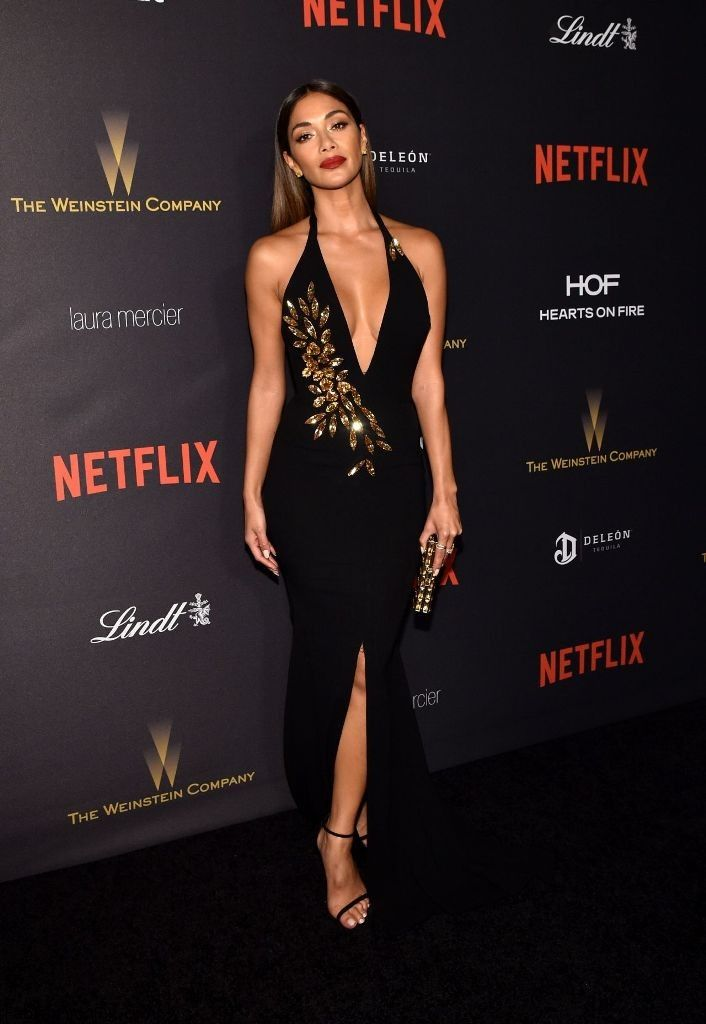 Nicole Scherzinger Wears A Plunging Backless Gown At Golden Globes Afterparty