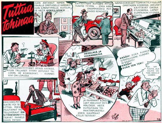 SEURA-LEHDEN SARJAKUVIA 50-luvulla