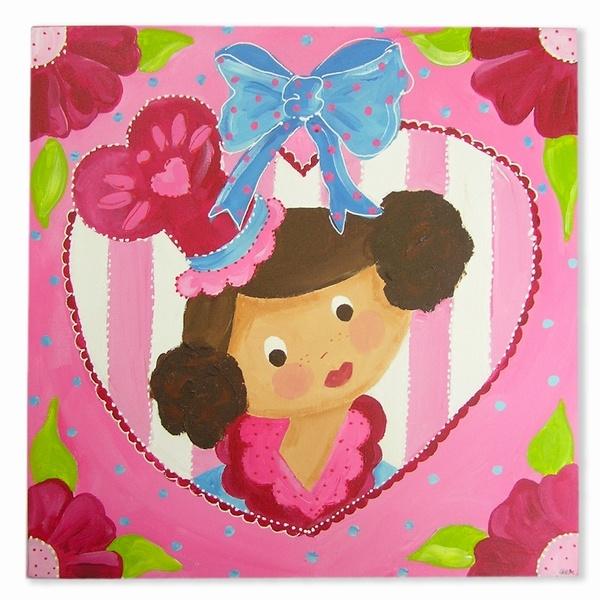 kinderwebwinkel: Schilderijen-GeK-design-Schilderij Prinses