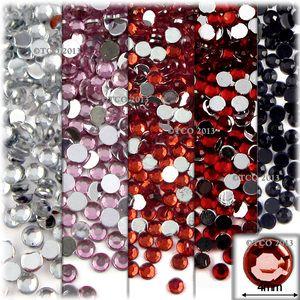 5-Pack Set (5X -288-Piece), Round 4mm Rhinestones, Red Tones 2