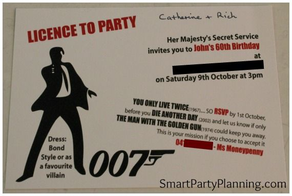 James Bond Theme Party | Smart Party Planning
