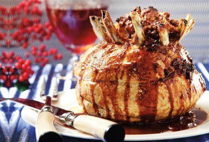 Κορόνα με βασιλική γέμιση και σάλτσα μήλου-featured_image