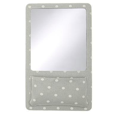 Northfield Grey Dot Locker Mirror Pocket