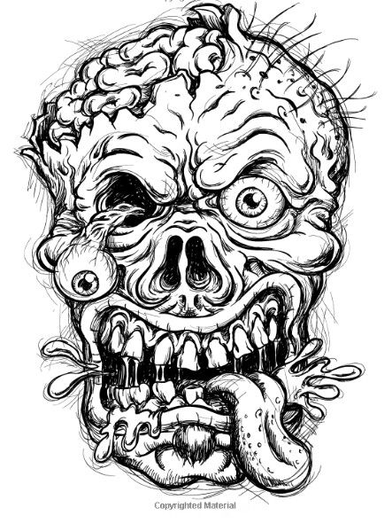 Idea by dstewart.umi on Horror   Skull coloring pages ...