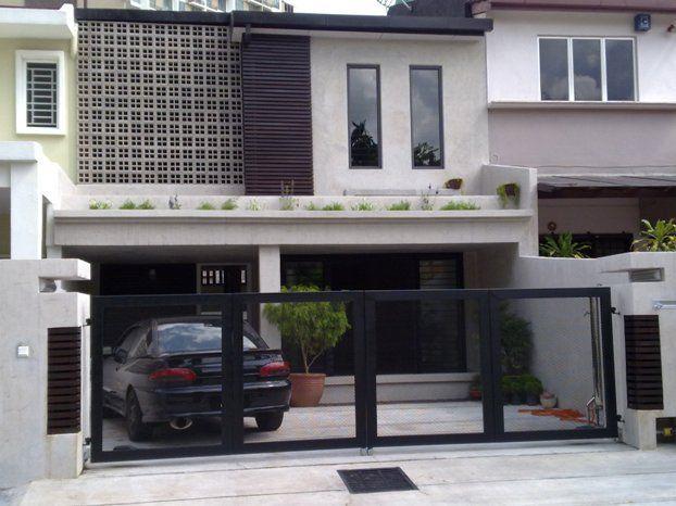 11 Idea Ubah Suai Muka Depan Rumah Teres Anda Eksterior Rumah Desain Rumah Modern Eksterior Rumah Modern