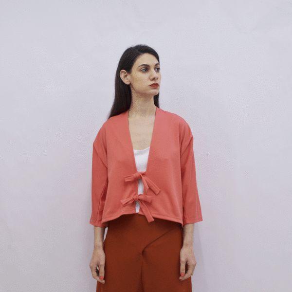 Cardigan Kimiko in Colorful Viscose Jersey – Akira Mushi