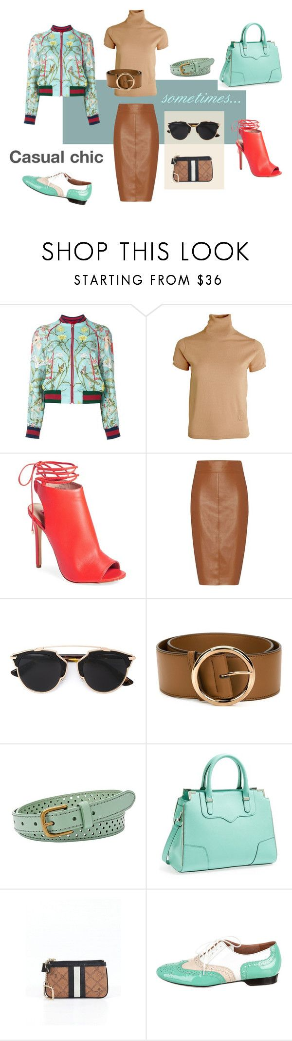 """Casual chic"" by pinfi on Polyvore featuring Gucci, Totême, Topshop, Bailey 44, Christian Dior, STELLA McCARTNEY, FOSSIL, Rebecca Minkoff, L.A.M.B. and Robert Clergerie #fashion #trends"