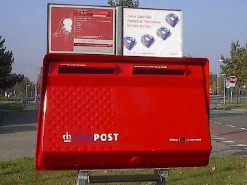 Rode Brievenbus TPG (dat was na PTT en voor TNT en PostNL)