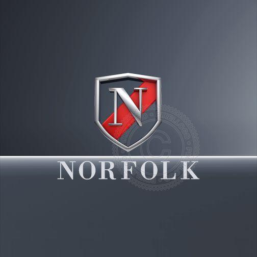 Fashion Emblem 3D N logo - 3D N in a shield | Pixellogo