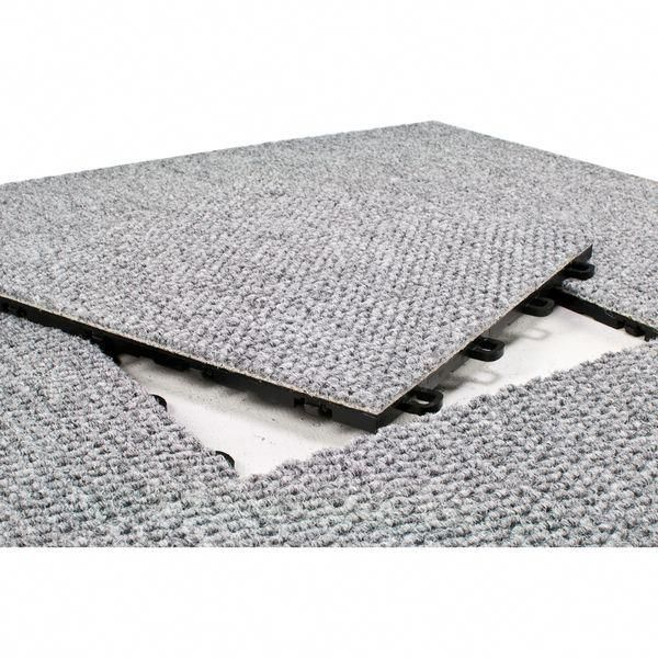 Blocktile 12x12 Inch Interlocking Premium Gray Carpet Tiles 20 Tile Pack Overstock Shopping The Bes Floor Carpet Tiles Basement Flooring Basement Carpet