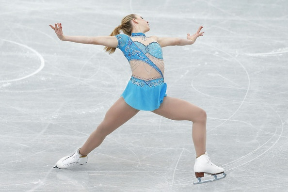 Agnes Zawadzki -Blue Figure Skating / Ice Skating dress inspiration for Sk8 Gr8 Designs.