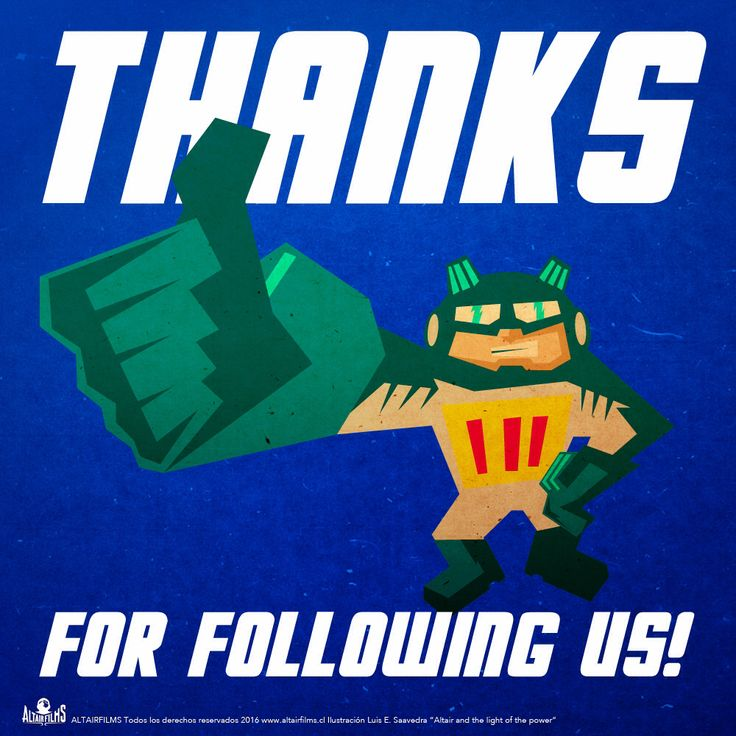 Thanks for following us!