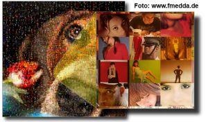 Za pomocą aplikacji Foto-Mosaik-Edda można stworzyć mozaikę z wybranych przez siebie zdjęć, z uprzednio utworzonej w programie bazy zdjęć.  Taka mozaika składa się z maleńkich zdjęć,