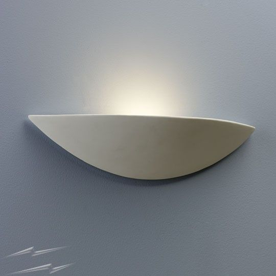 Slice Wall Light, Astro 0425 Paintable White Ceramic Interior Wall Uplight