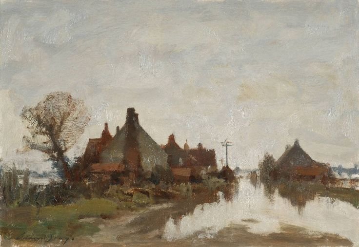 Flooded Road at Beccles, Suffolk. Edward Seago