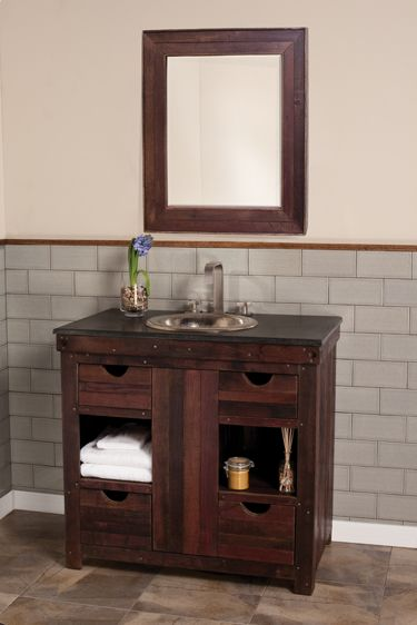 bathroom vanity option: Sinks Consoles, Guest Bathroom, Cabernet Vanities, Wine Barrels, Bathroom Vanities, Bath Vanities, Bathroom Sinks, Eclectic Bathroom, Native Trail