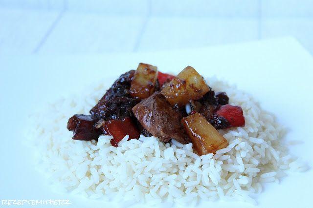 Rezepte mit Herz   ♥: Hawaiianische Hähnchenbrust, gebacken