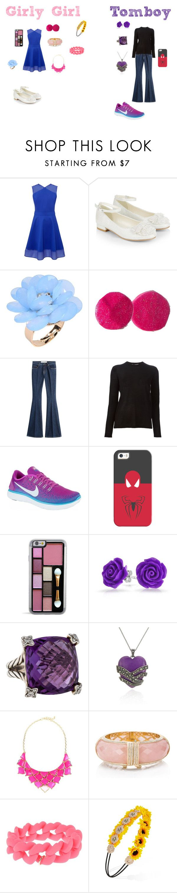 """""""Grily Girl vs. Tomboy: House Party Outfits"""" by sierra-ivy on Polyvore featuring Ted Baker, Monsoon, Dettagli, dVb Victoria Beckham, Alexander Wang, NIKE, Casetify, Bling Jewelry, David Yurman and Belk & Co."""